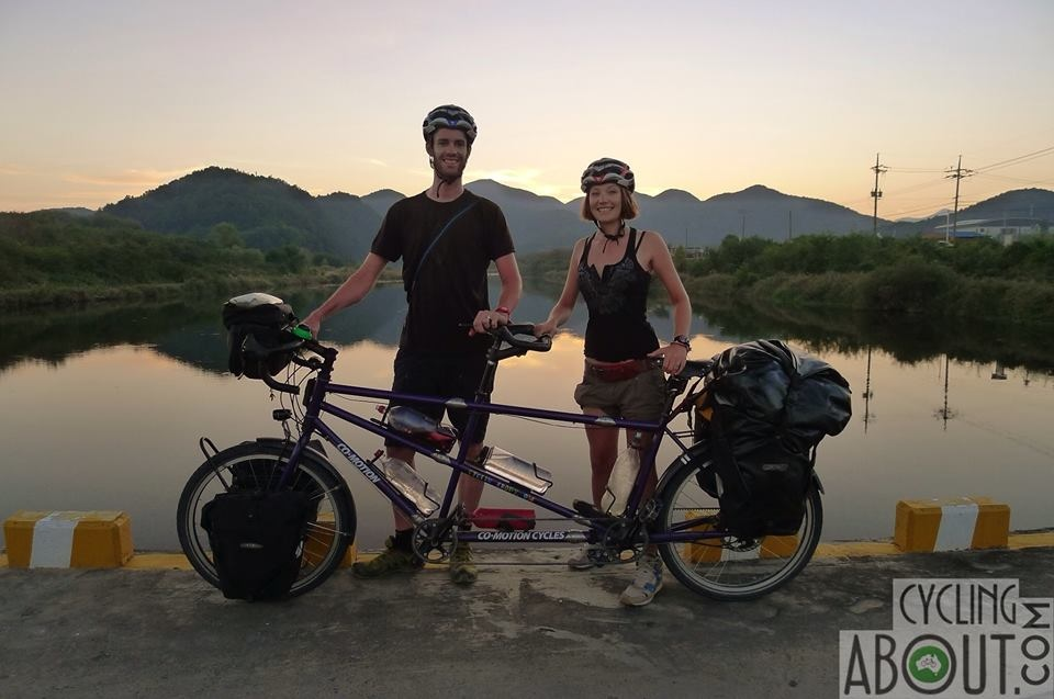 Tandem Bicycle touring korea