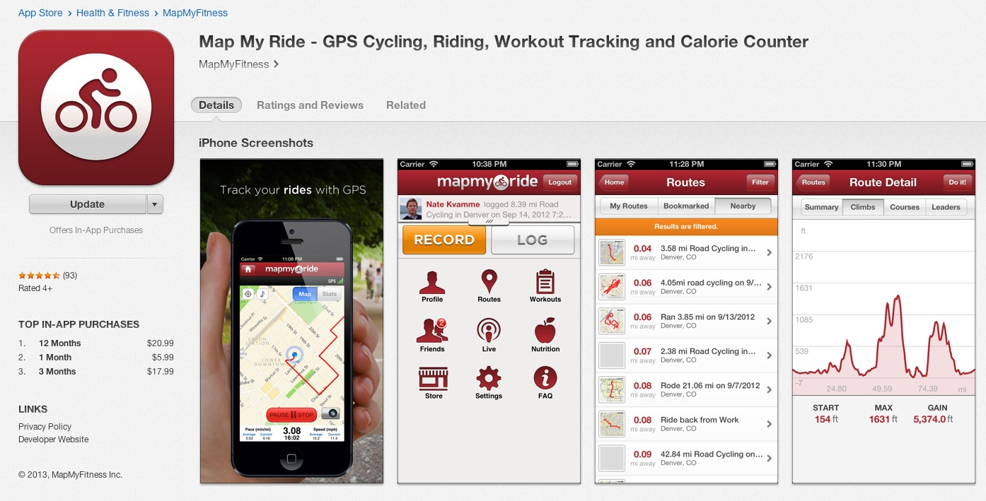 GPS Navigation Bike Touring Or Cycling With A Smartphone - Map my bike