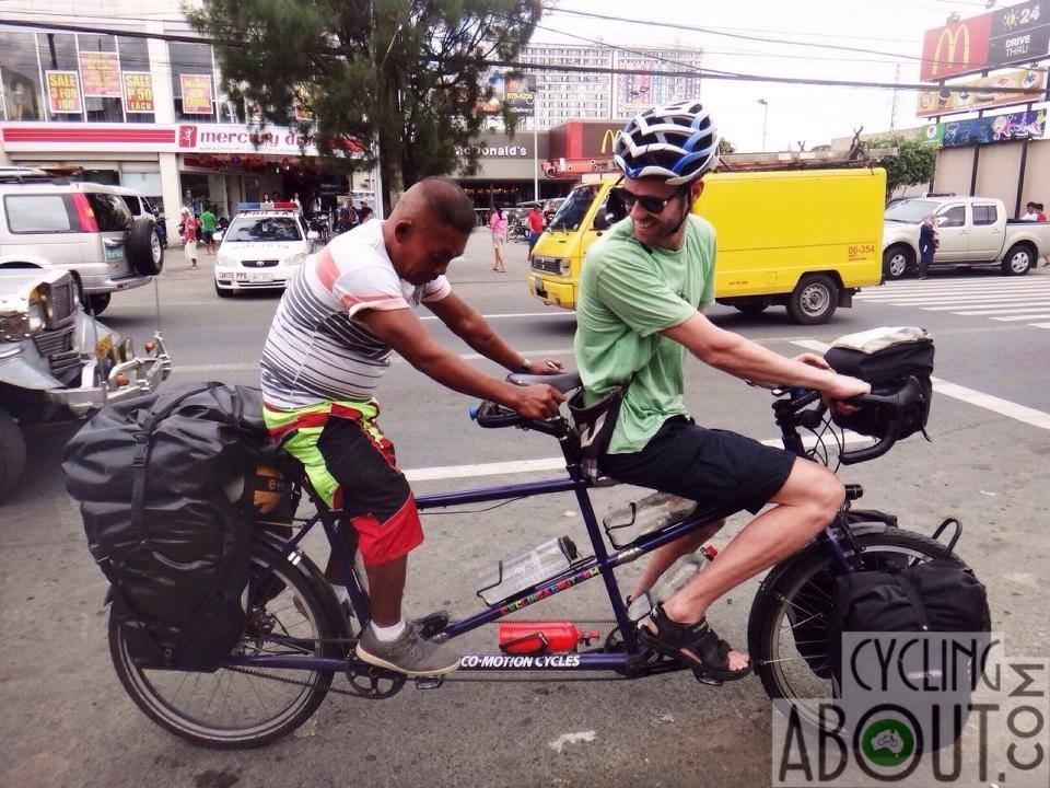 Tandem bicycle touring in the Philippines