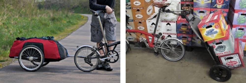 folding bike trailer