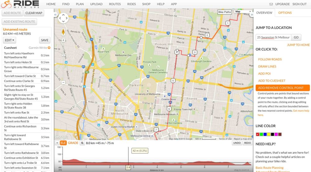 10RideWithGPS Move Route