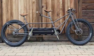 This Moonmen M10 Electric-Assist Tandem Titanium Fat Bike Is Out of This World!