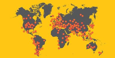 Bicycle Touring Infographic: The 159 Best Bike Touring Destinations In The World