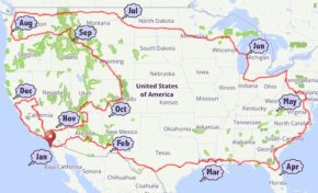 The Year-Long, 12,679 Mile USA Bike Tour With Perfect Weather Every Day
