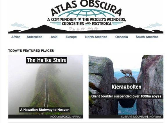 Trip Planning: Atlas Obscura Website