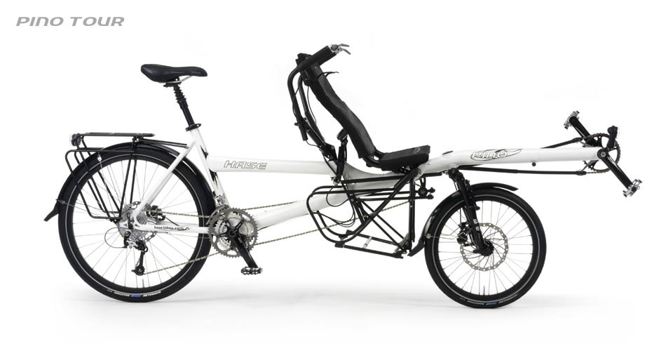 The Hase Pino is a unique semi-recumbent option which provides a better view for the stoker.