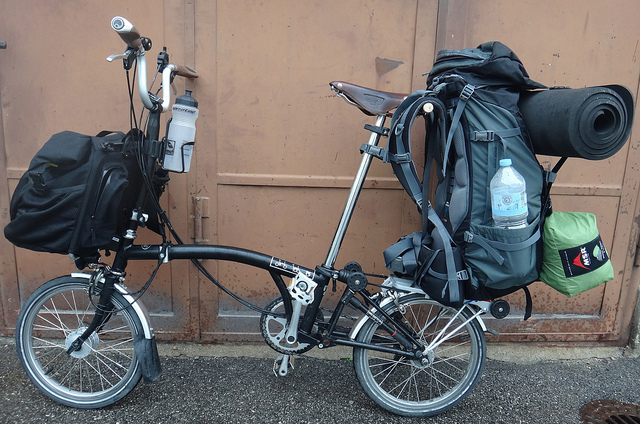 Hiking Pack on Brompton