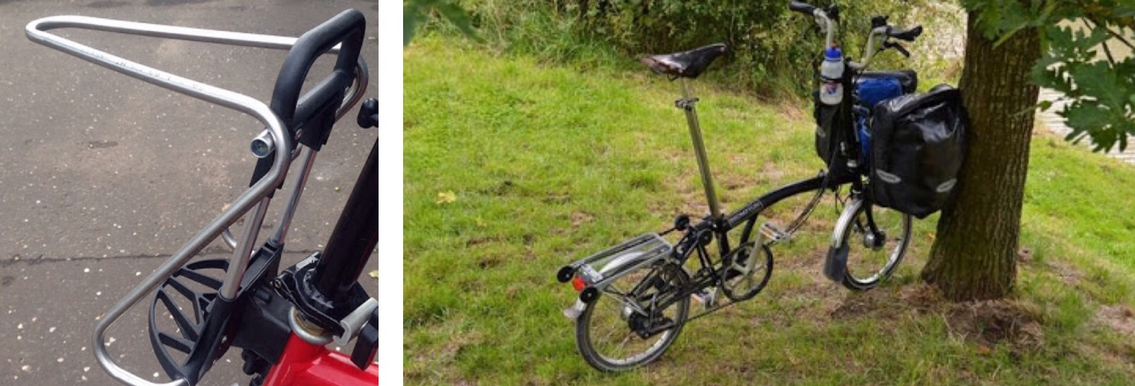 Carrying Luggage On A Folding Bike Brompton Tern Dahon