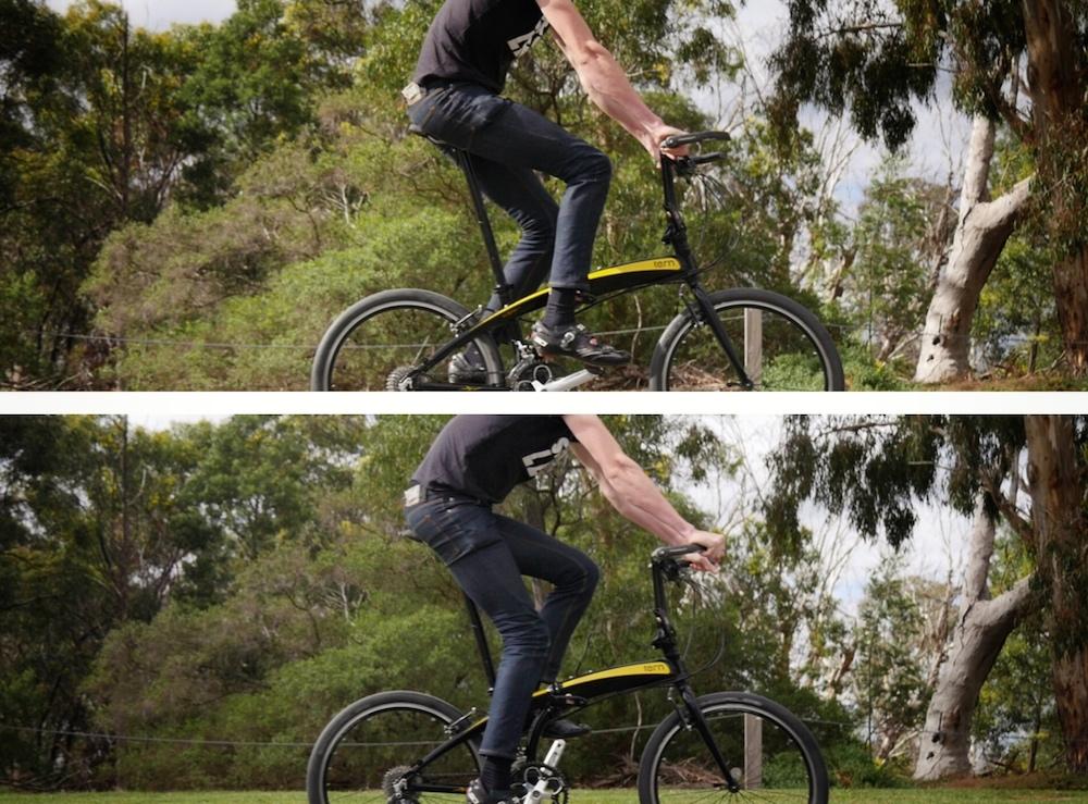 Tern Folding Bike Tall Cyclist