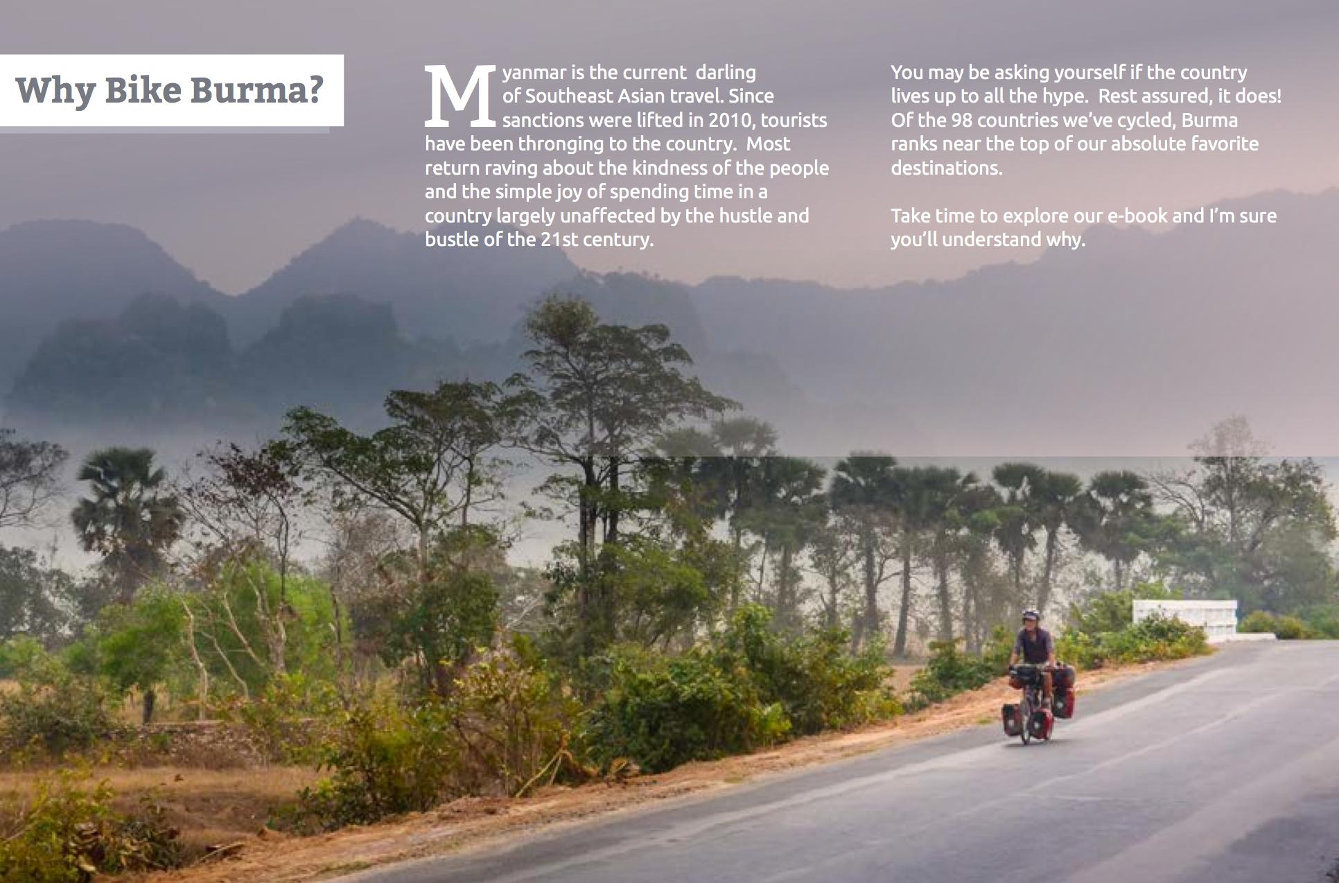 Why Burma by Bike