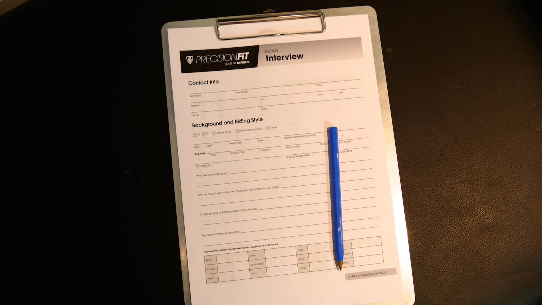 Trek Precision Fit Questionnaire