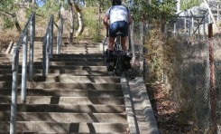 Video: Riding Up Stairs On My Touring Bike!