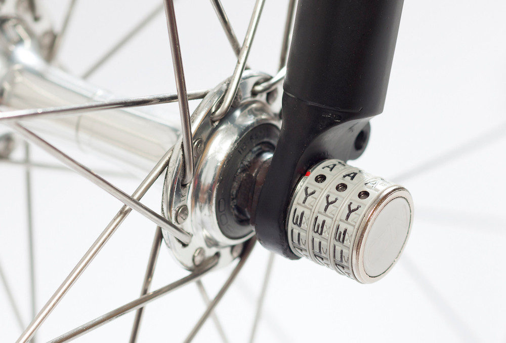 The Sphyke combination security caps use a three-digit locking mechanism to protect your wheels.