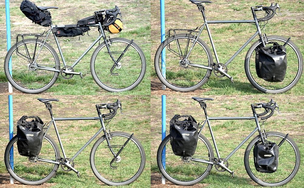 The four different bike setups.