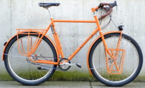 This is One Seriously Orange Custom OffRoad Ahearne Touring Bike