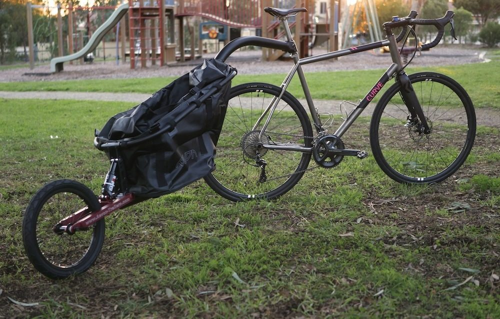 bike and trailer