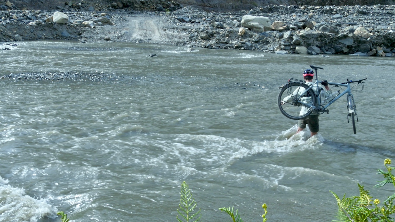 Bicycle Touring River Crossing