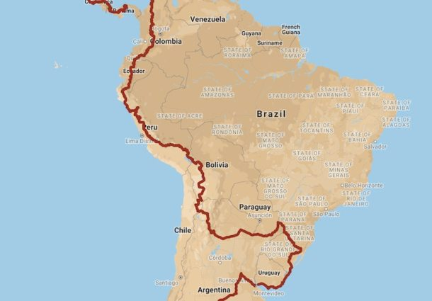 Progress Map & GPX Routes: CyclingAbout The Americas (2017-2020)