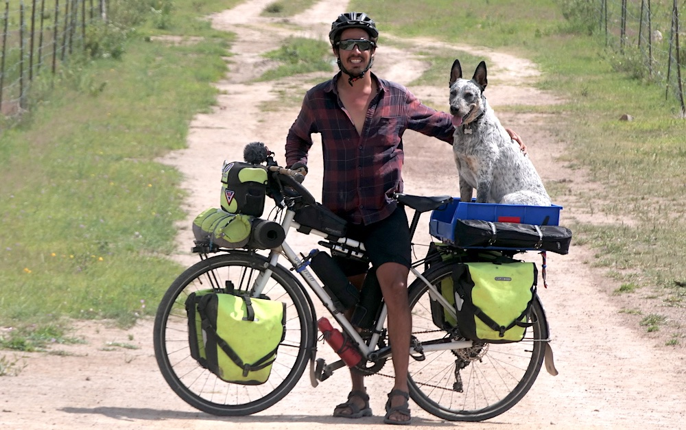 cycling with a dog