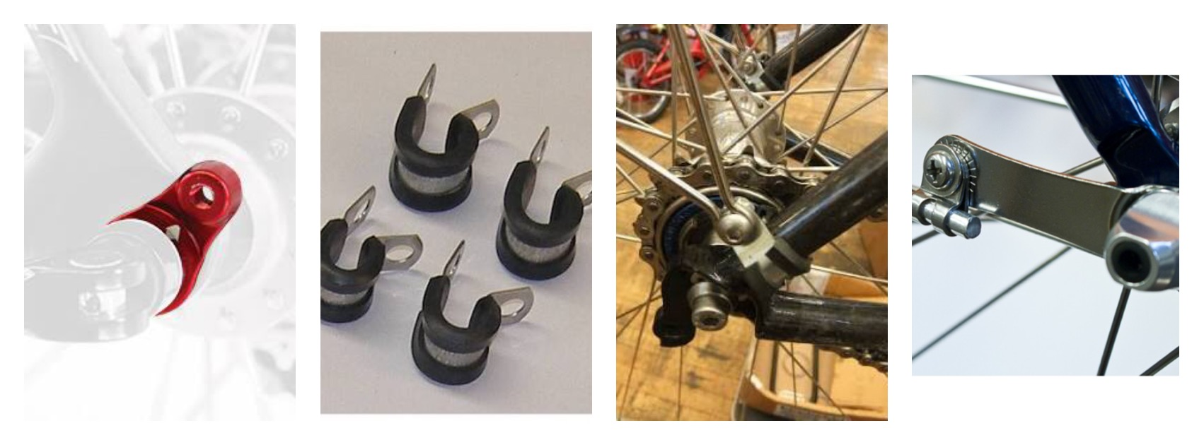 4 Bike Mudguard Eyelet Nuts /& Bolts For Fitting Cycle Mud Guards